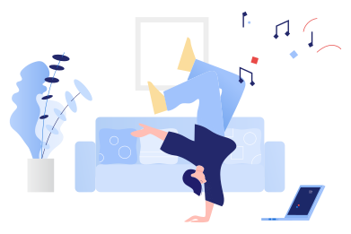 style Dancing in front of the laptop images in PNG and SVG | Icons8 Illustrations