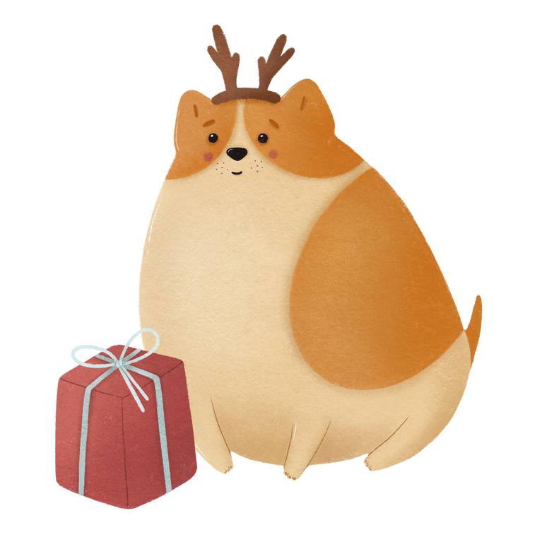 style Christmas dog Vector images in PNG and SVG | Icons8 Illustrations