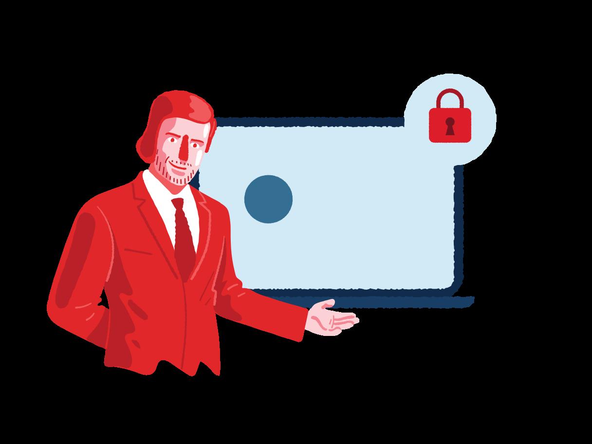 Secure login  Clipart illustration in PNG, SVG
