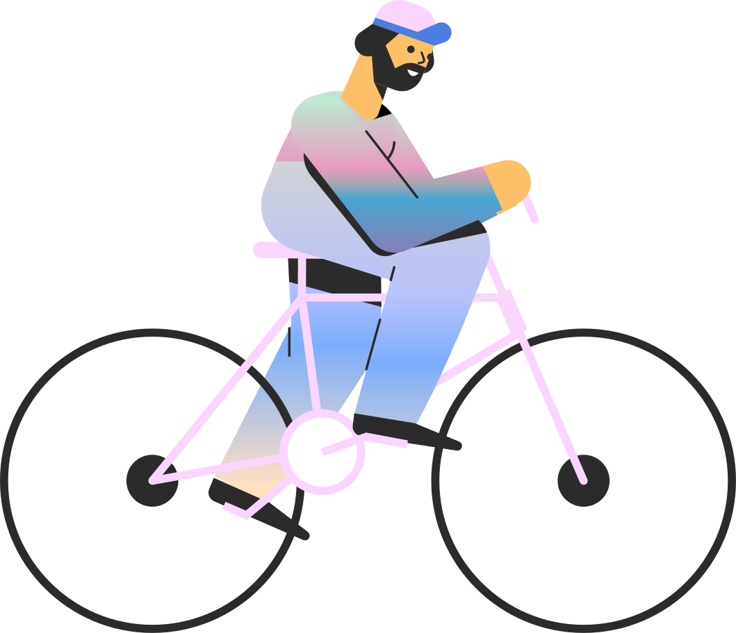 man bicycle Clipart illustration in PNG, SVG