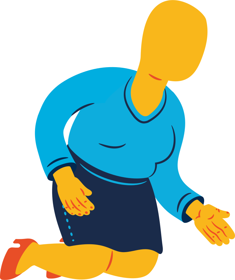 chubby woman sitting Clipart illustration in PNG, SVG