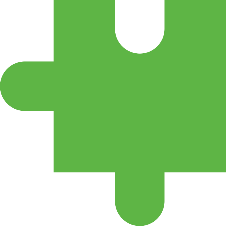 puzzle piece green Clipart illustration in PNG, SVG