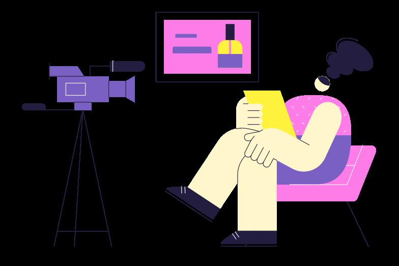 Beauty blog Clipart illustration in PNG, SVG
