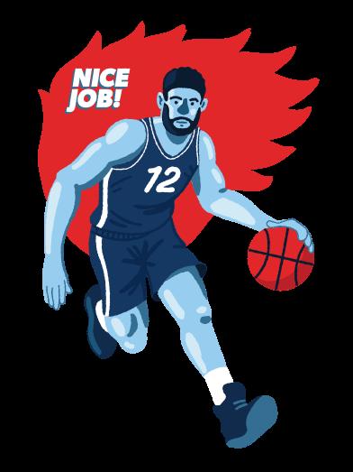 Imágenes de Jugador de baloncesto estilo  en PNG y SVG | Ilustraciones Icons8