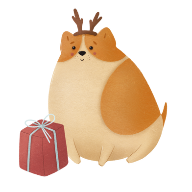 style Christmas dog images in PNG and SVG | Icons8 Illustrations
