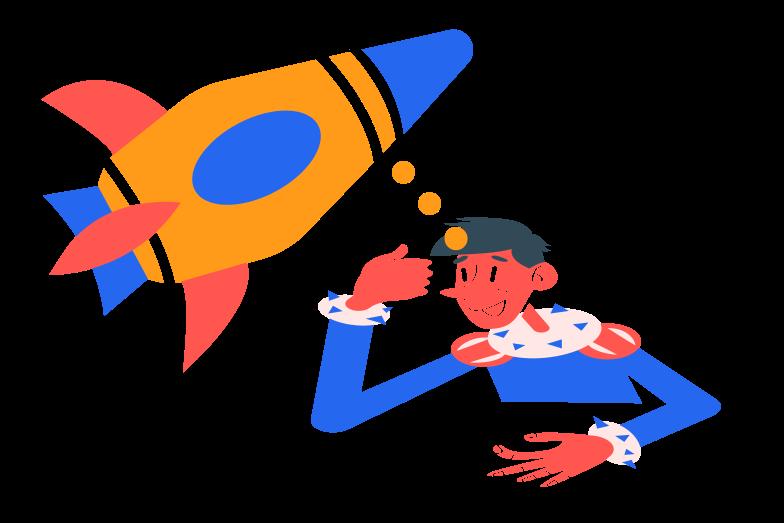 Rocket engineer Clipart illustration in PNG, SVG