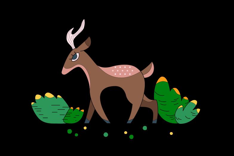 Forest deer Clipart illustration in PNG, SVG
