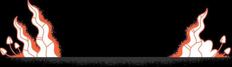 Pavimento magico di halloween con piante Illustrazione clipart in PNG, SVG