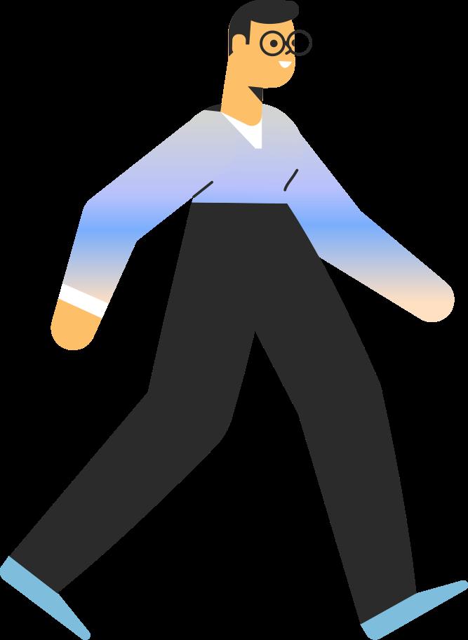 man walking Clipart illustration in PNG, SVG