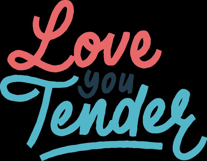 love you tender Clipart illustration in PNG, SVG