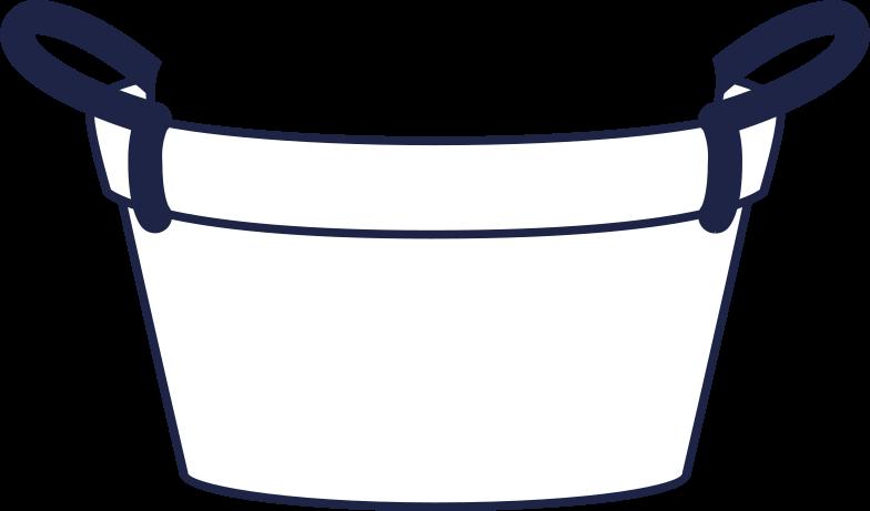 downloading  basket line Clipart illustration in PNG, SVG