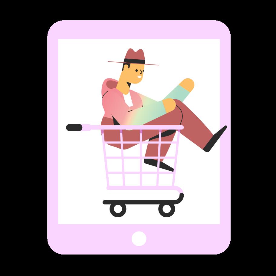 Ilustración de clipart de las compras en línea en PNG, SVG