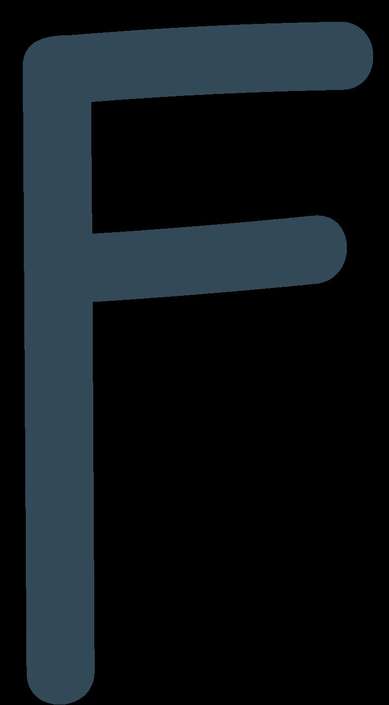 f dark blue Clipart illustration in PNG, SVG