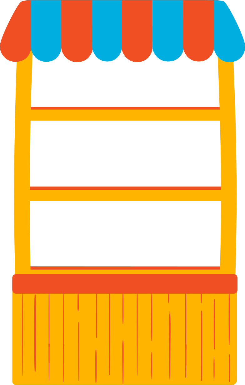 shelving with canopy Clipart illustration in PNG, SVG