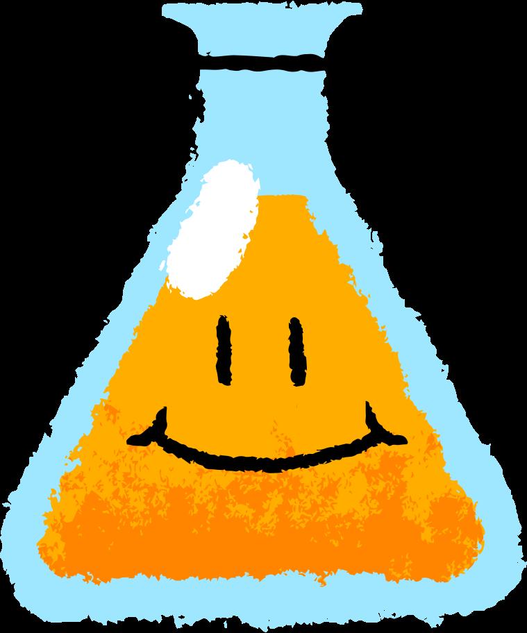 flask face Clipart illustration in PNG, SVG