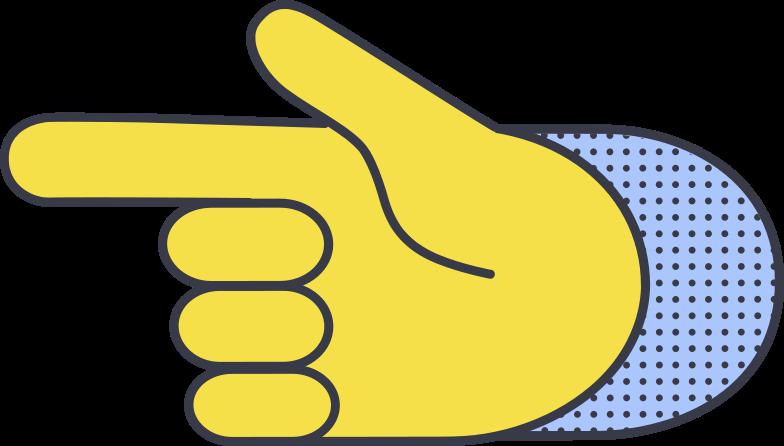 backhand index pointing left Clipart illustration in PNG, SVG