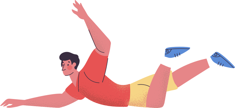 man fallen Clipart illustration in PNG, SVG