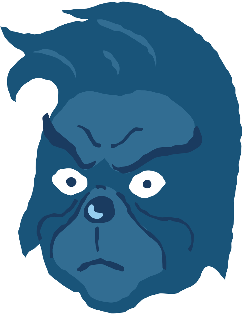 grinch head no hat angry Clipart illustration in PNG, SVG