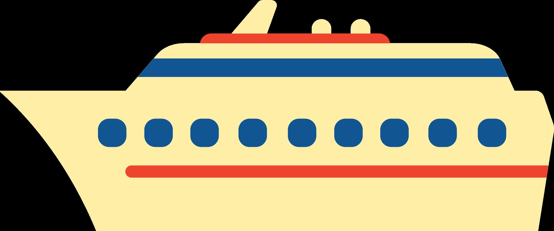Ilustración de clipart de crucero en PNG, SVG