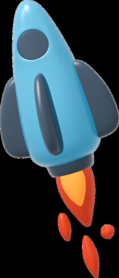 Flying rocket Clipart illustration in PNG, SVG