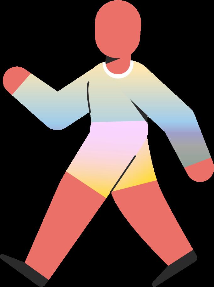 child walking Clipart illustration in PNG, SVG