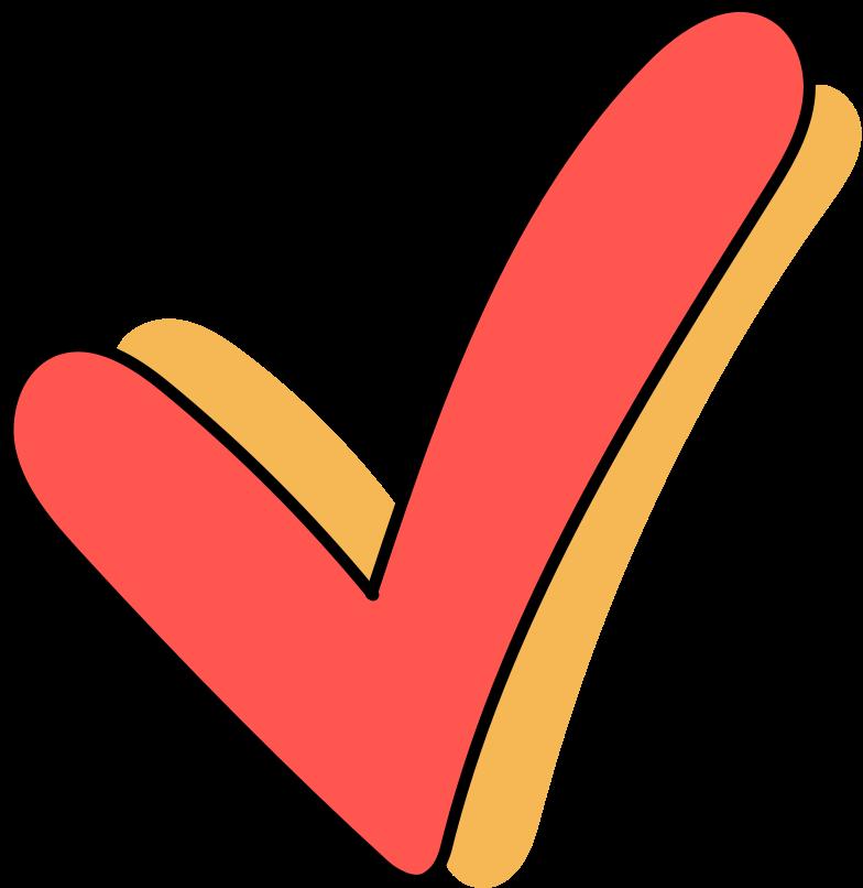 order completed  checkmark Clipart illustration in PNG, SVG