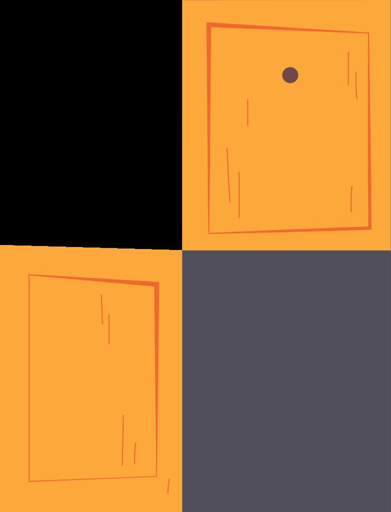 double open door Clipart illustration in PNG, SVG
