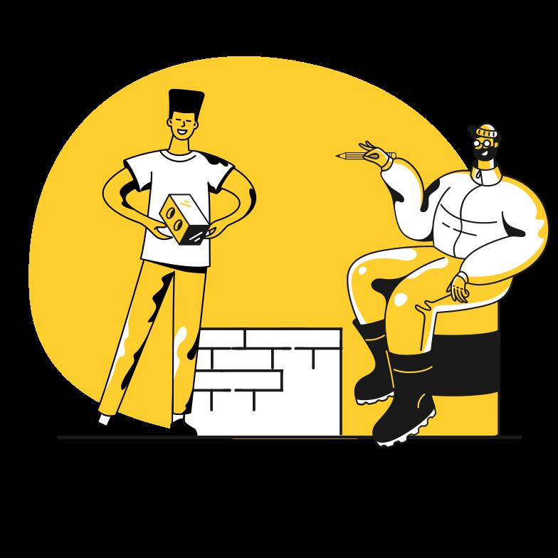 Work together Clipart illustration in PNG, SVG