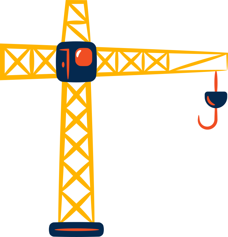 tower crane Clipart illustration in PNG, SVG