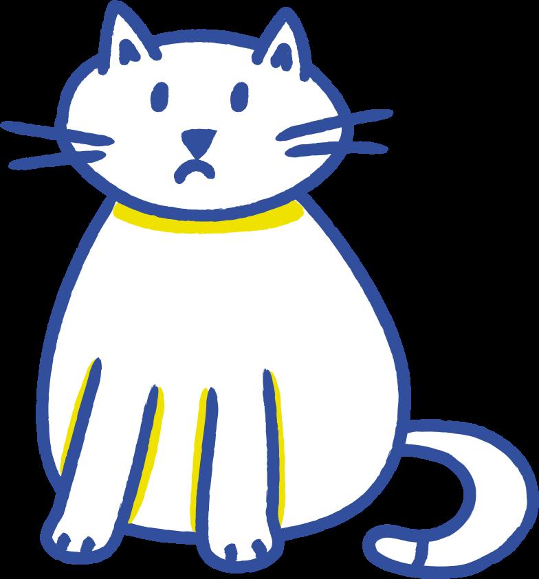 cat sad Clipart illustration in PNG, SVG