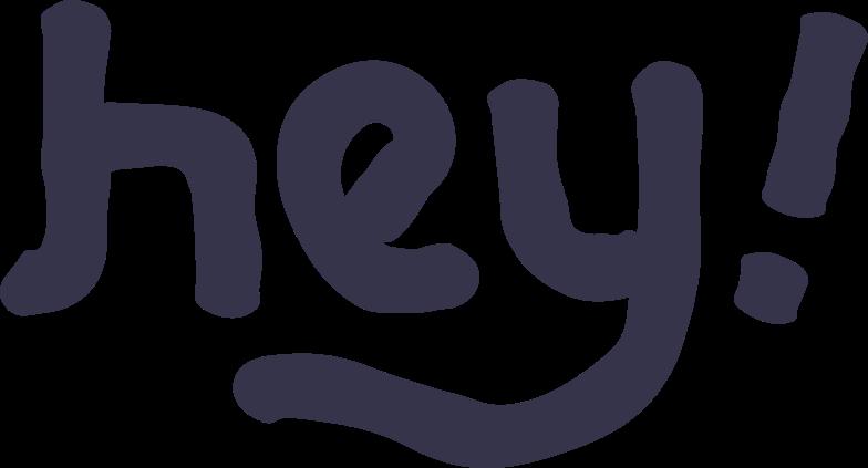 Клипарт Привет в PNG и SVG