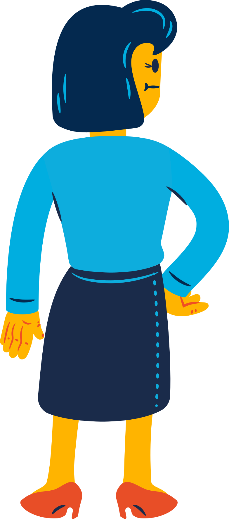 thoughtful woman Clipart illustration in PNG, SVG
