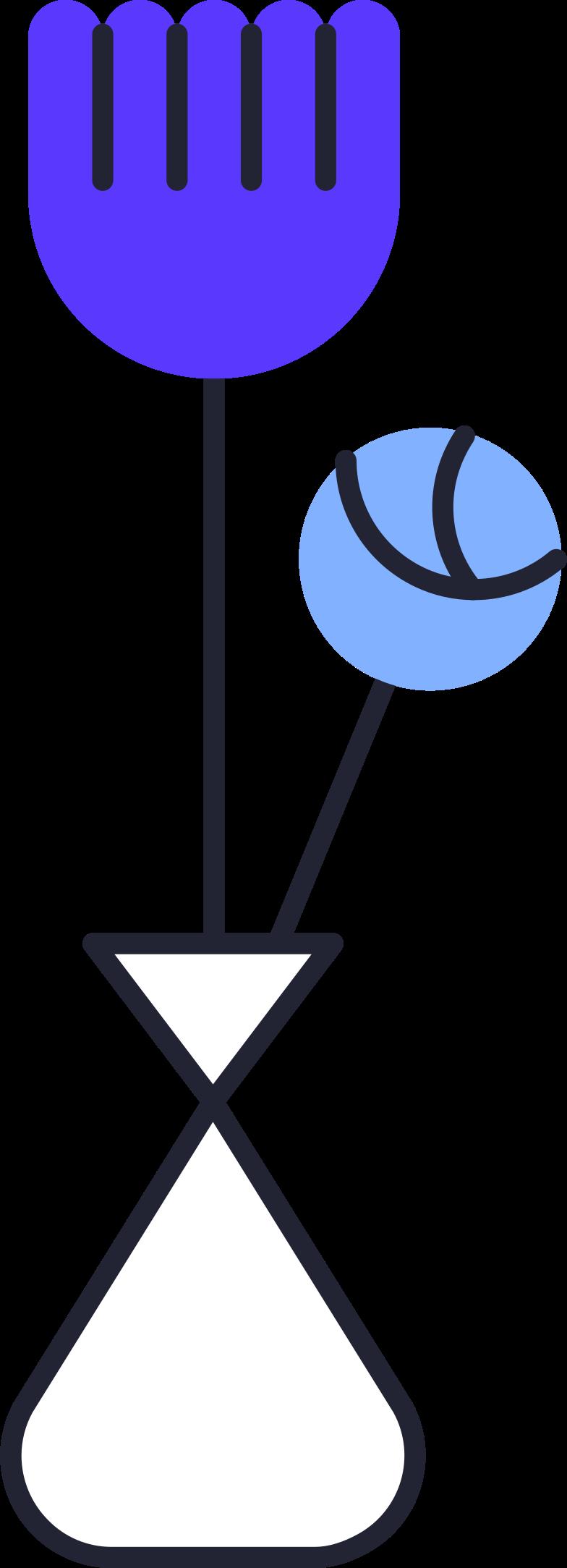 Ilustración de clipart de come back later  flowers in vase en PNG, SVG