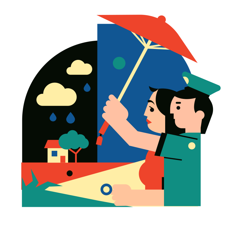 Rainy weather Clipart illustration in PNG, SVG