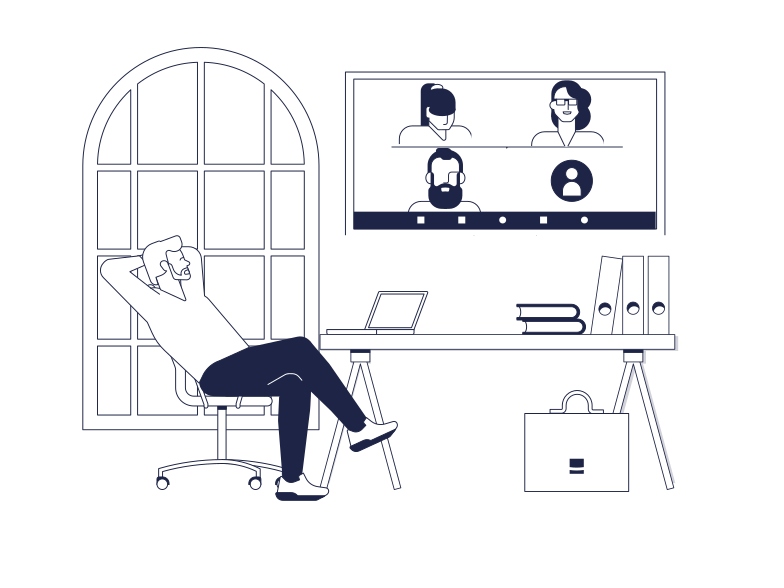 Клипарт Онлайн встреча в PNG и SVG