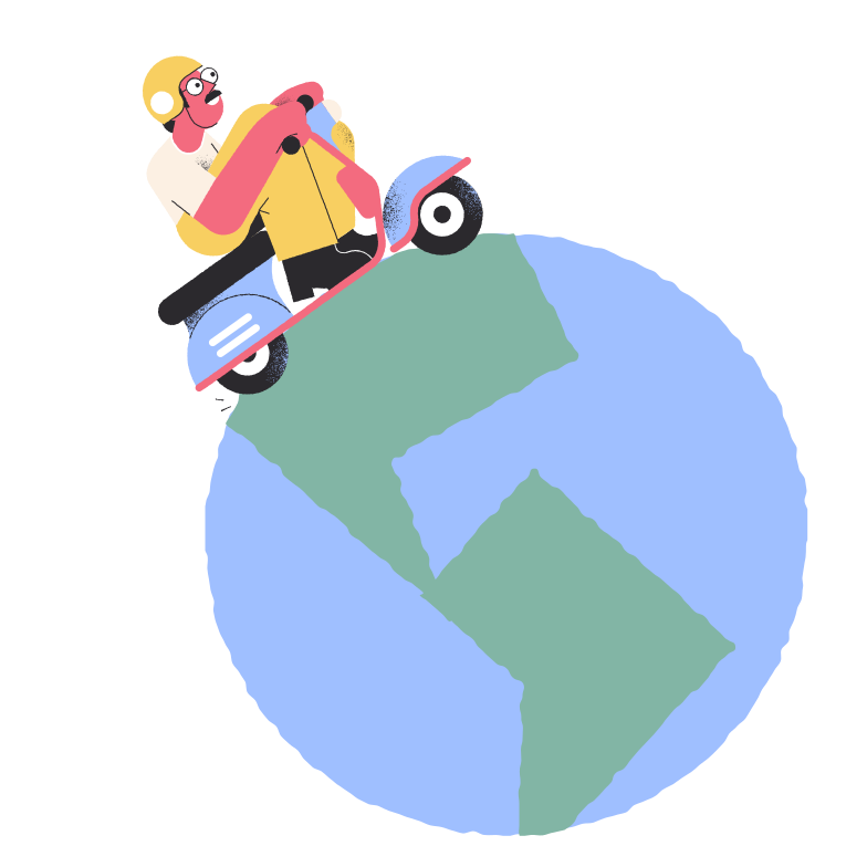 Trip around the world Clipart illustration in PNG, SVG