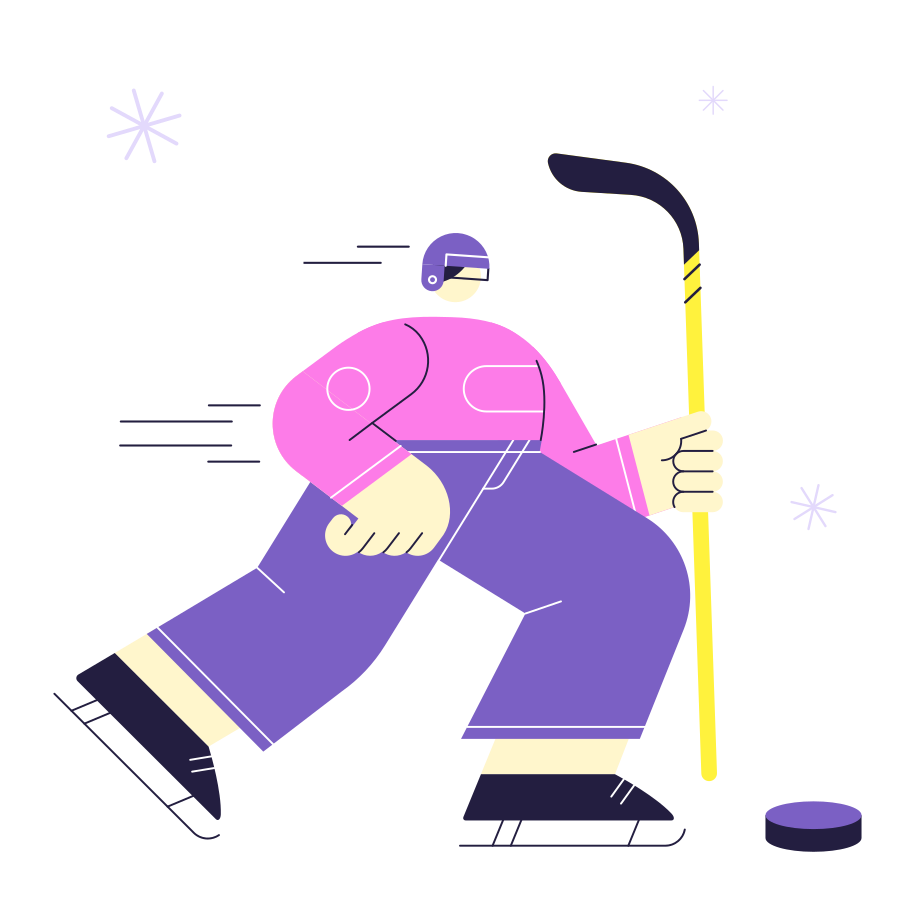 Hockey Clipart illustration in PNG, SVG