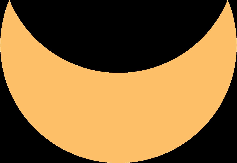crescent orange Clipart illustration in PNG, SVG