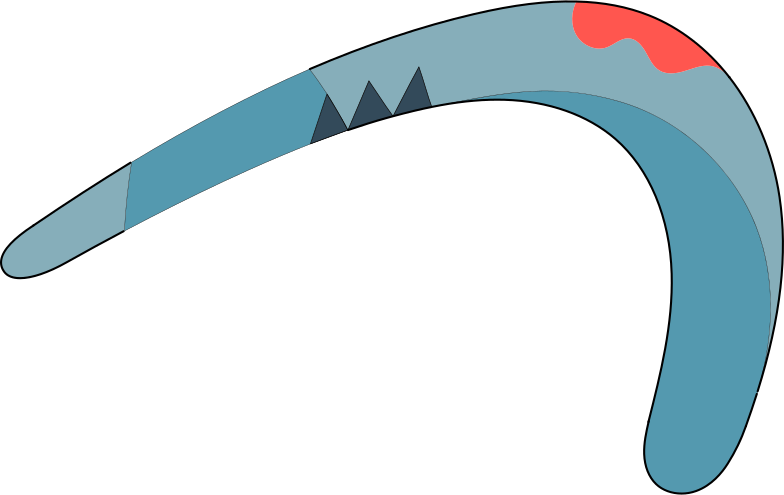 boomerang Clipart illustration in PNG, SVG