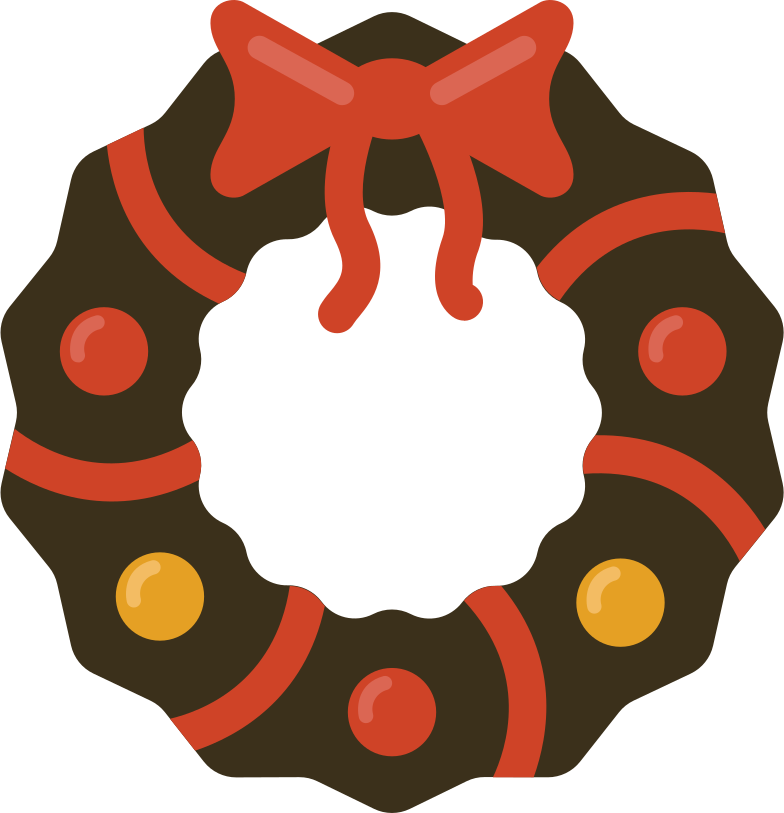 christmas wreath Clipart illustration in PNG, SVG