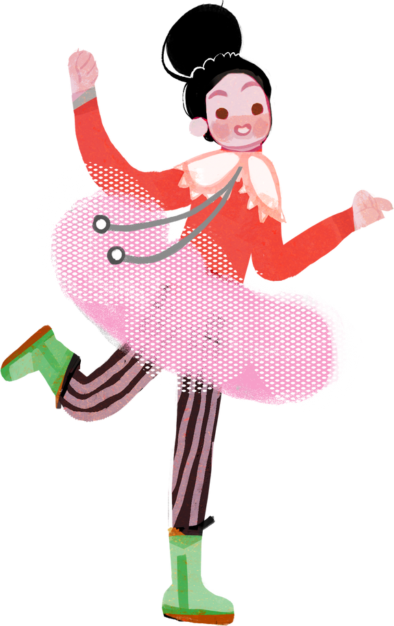 mademoiselle Clipart illustration in PNG, SVG