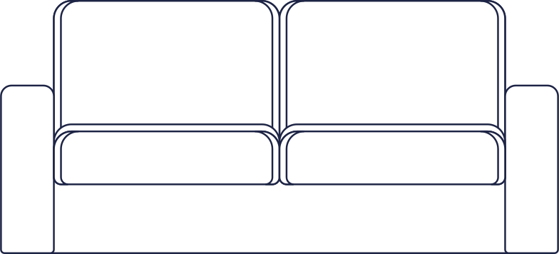 sofa line Clipart illustration in PNG, SVG
