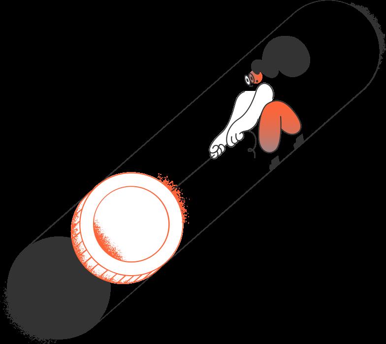 pulling girl Clipart illustration in PNG, SVG