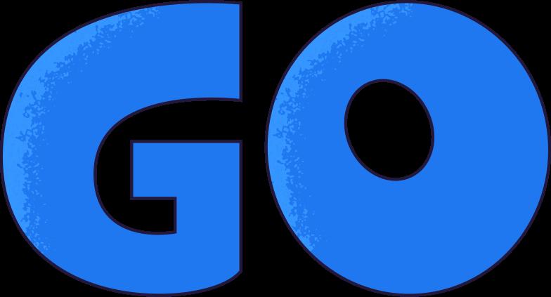go Clipart illustration in PNG, SVG