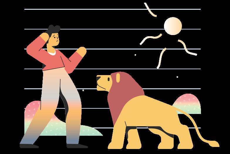 Meet a lion Clipart illustration in PNG, SVG