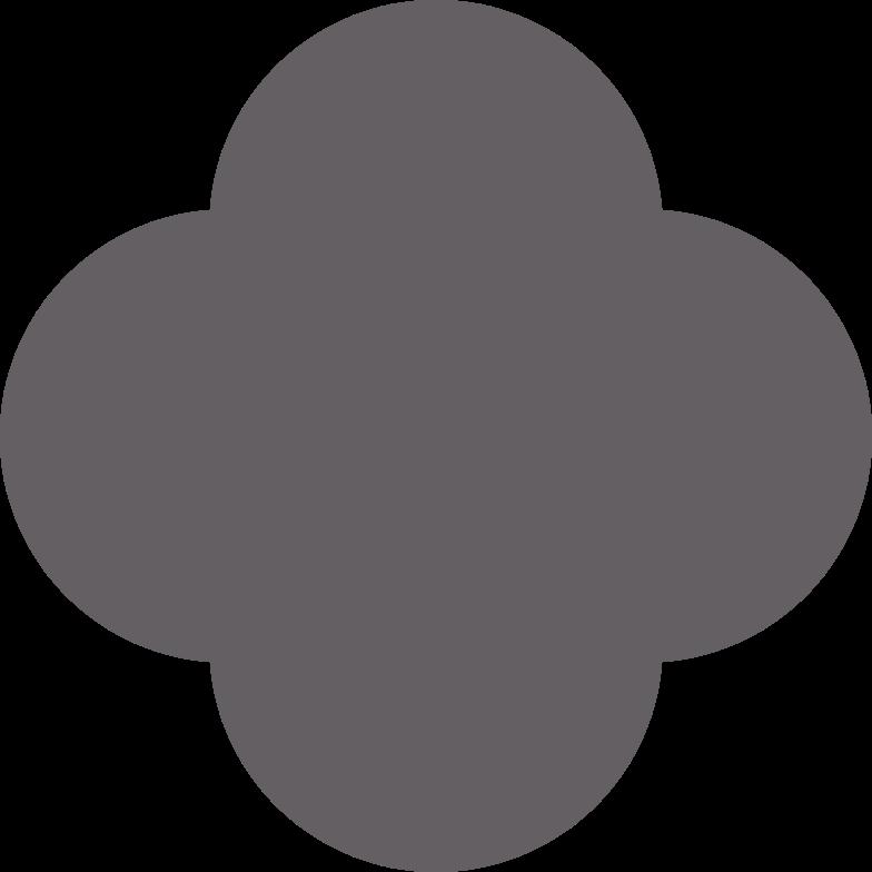 quatrefoil grey Clipart illustration in PNG, SVG