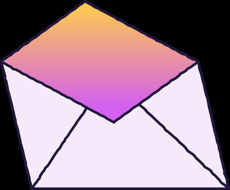 open envelope Clipart illustration in PNG, SVG