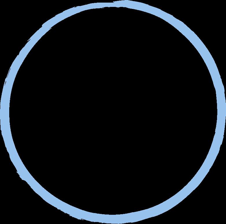tk round chalk blue Clipart illustration in PNG, SVG
