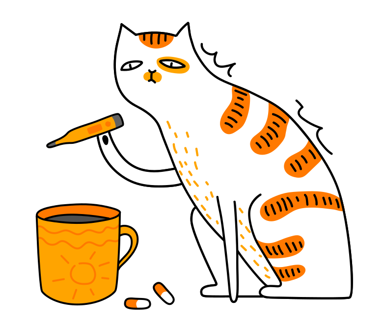 style The cat is sick Vector images in PNG and SVG | Icons8 Illustrations