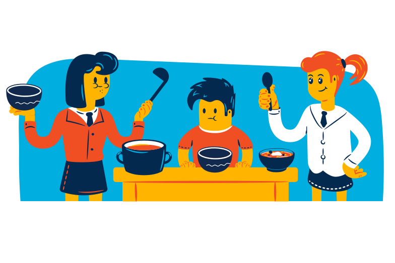 Family lunch Clipart illustration in PNG, SVG